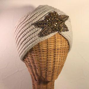 Embellished knit hat